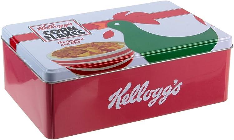 18,5/x 10,3/x 25/cm Kellogg S kg30681/Scatola Cereali Metallo Bianco Rosso