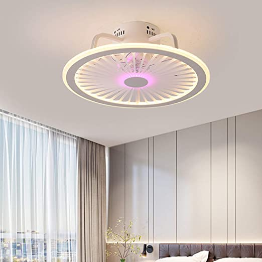 Ventilador de Techo con luz, Ventilador de Techo Creativo Ultra ...