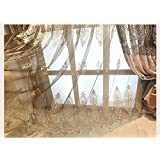 FADFAY Brand Embroidered Window Curtain Cotton Linen Living Room Curtains European Royal Bedroom Curtain