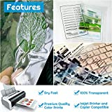 Inkjet Transparency Paper Sheets, Anezus 50 Pack