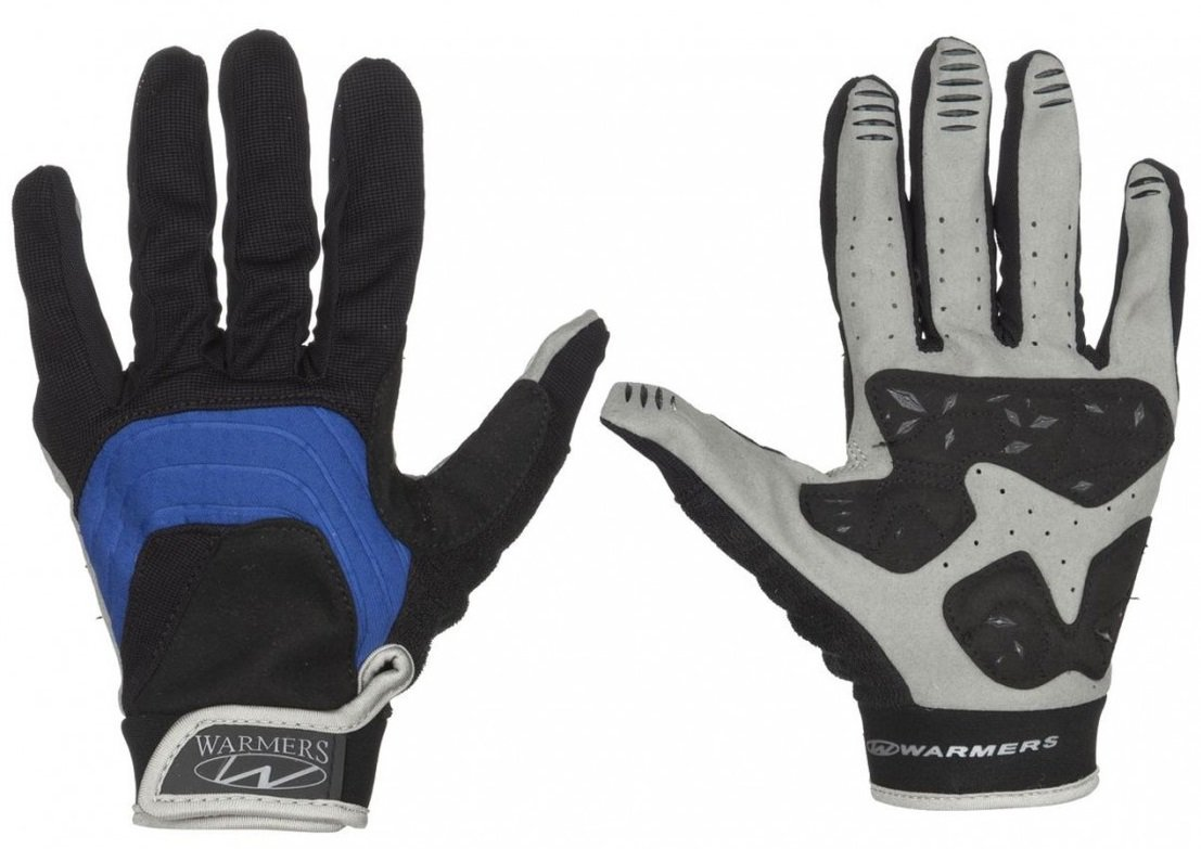 Stohlquist Warmers Barnacle Paddling Gloves, XL, BLACK/ BLUE