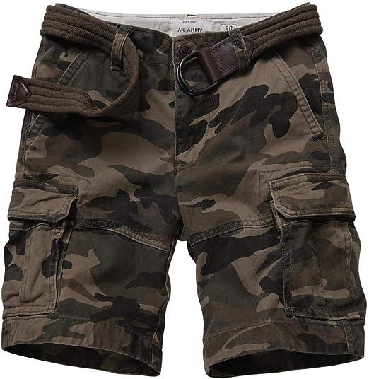 Men's Camo Cargo Shorts Outdoor Multi-Pocket Cotton Casual Shorts