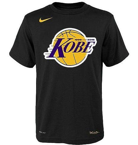 87b02d36477bb Amazon.com: Nike Youth Los Angeles Lakers Kobe Retirement Logo T ...