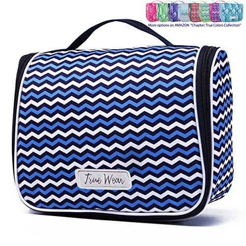 Designer Hanging (Chapter: True Colors Collection. Large Makeup & Cosmetic Hanging Toiletry Bag Travel Organizer for Men & Women - Bali Continuum)