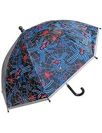 RainStoppers W107CHSPIDER Boy's Plastic Spider Print Umbrella, 34-Inch