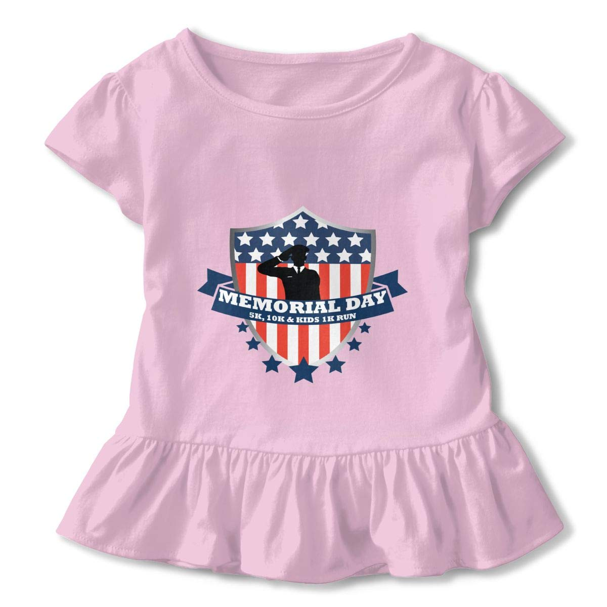 Memorial Day Pink 2-6 T Toddler Baby Girls 100/% Cotton Short Sleeve T Shirt Top Blouse Tee Clothes