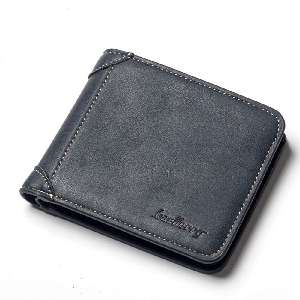 Mens Wallet Genuine Leather Credit Bank Card Holder RFID Blocking Wallet for Men