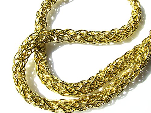6 Meters Metallic Gold Rope Braid 8 mm Thick Longsun