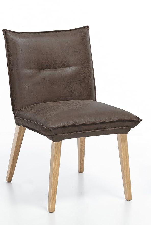 Meubletmoi Silla Confortable con Aspecto de Piel marrón ...
