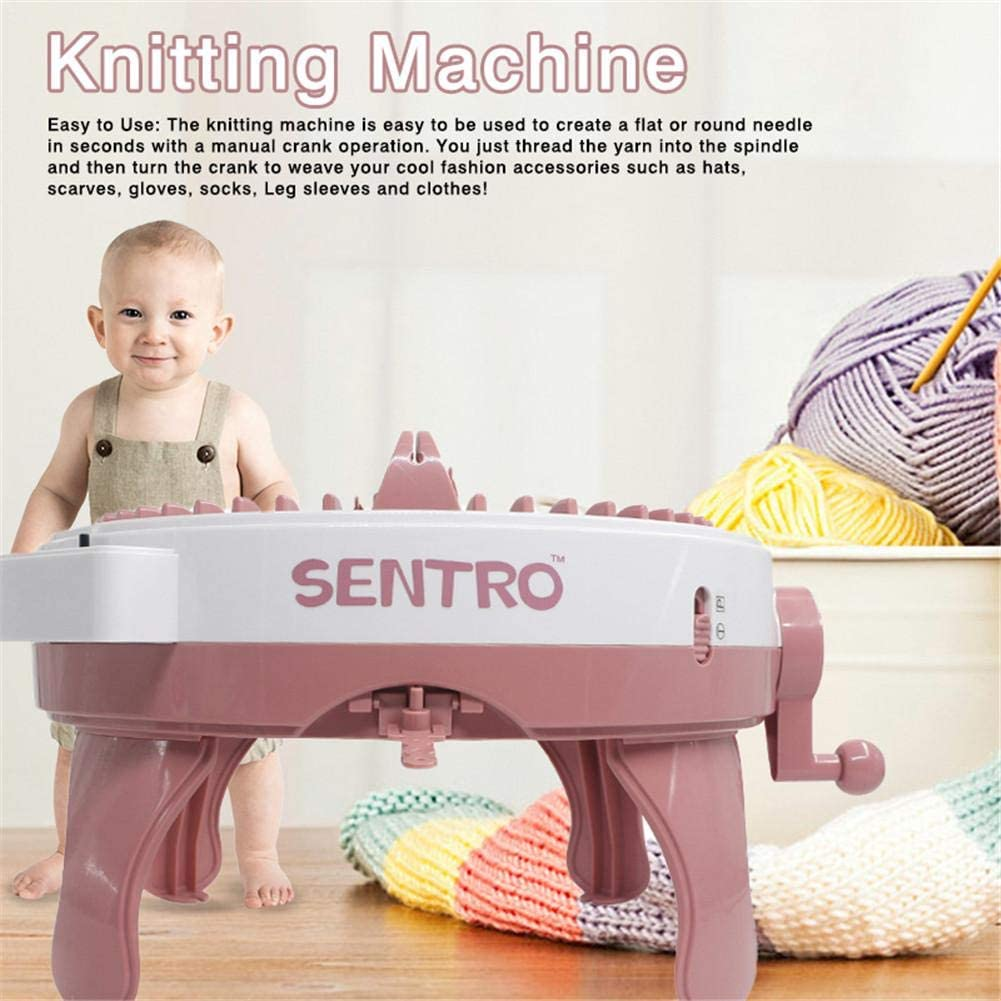 Thanksgiving Rosymity Knitting Machine,Made by Plastic//No Odor//DIY Hands-on Knitting Machine//Easy to Use A Good Gift for Birthdays New Year and Christmas