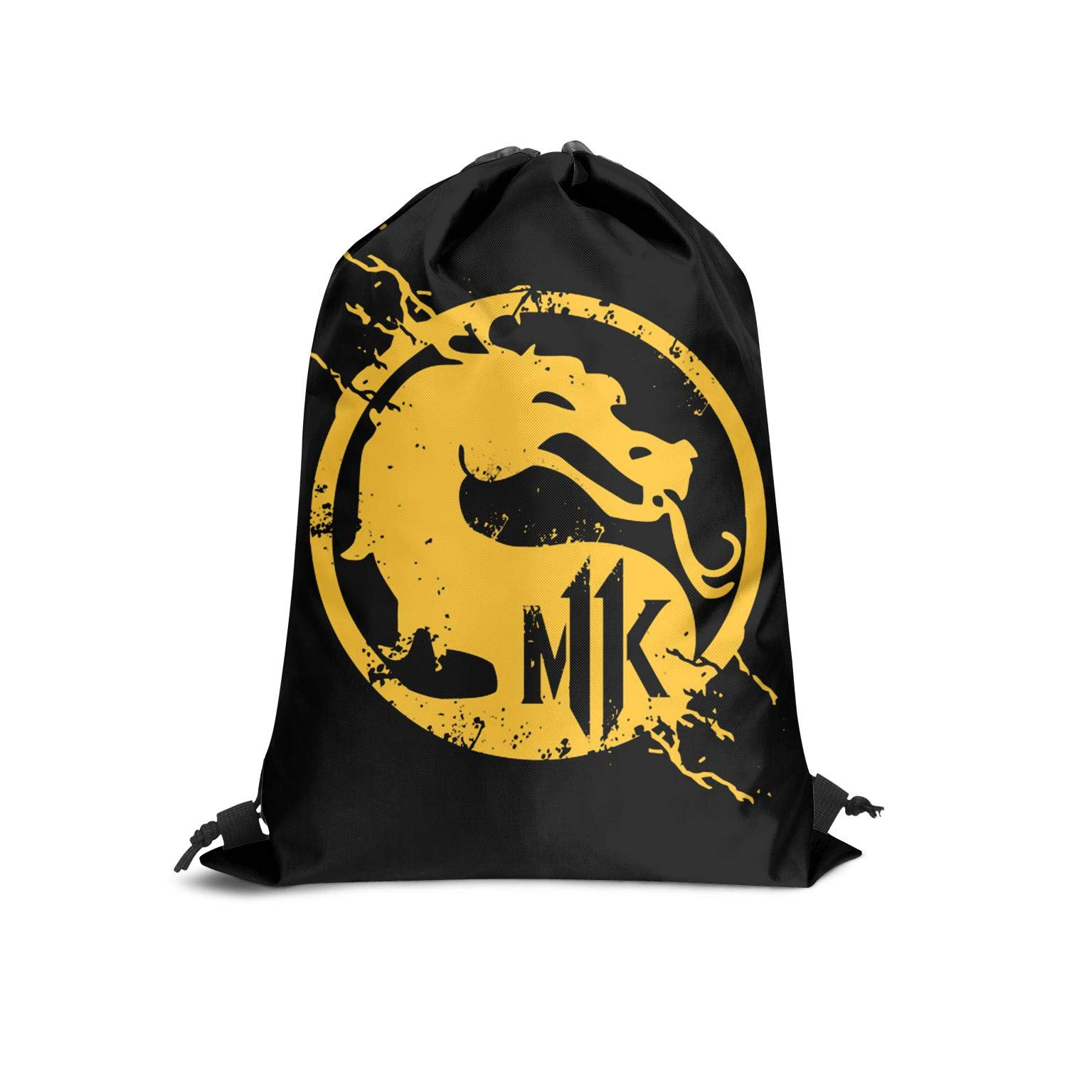 Mortal-kombat-11-logo Drawstring Backpack Adjustable Gym Sack Bag
