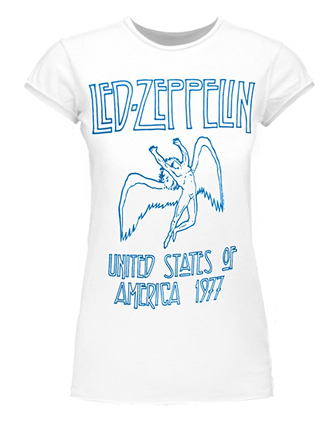 Amplified Led Zeppelin USA 1977 Women's T-Shirt Amplified Clothing