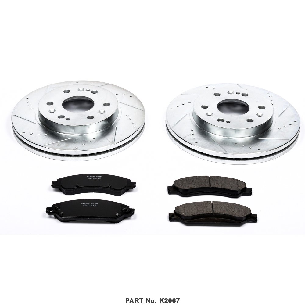Power Stop K2067 Front Z23 Evolution Brake Kit with Drilled/Slotted Rotors and Ceramic Brake Pads by Power Stop (Image #2)
