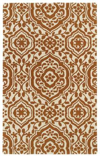 Heights Bedroom Collection - Evolution Collection Hand Tufted Orange Rug (2' x 3')