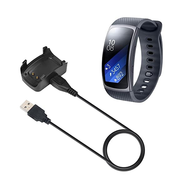 MoKo Gear Fit2 Cargador - Reemplazo Charger Charging Cuna Estación de Escritorio Sostenedor para Samsung Gear Fit 2 Smart Watch SM-R360 con Micro USB ...