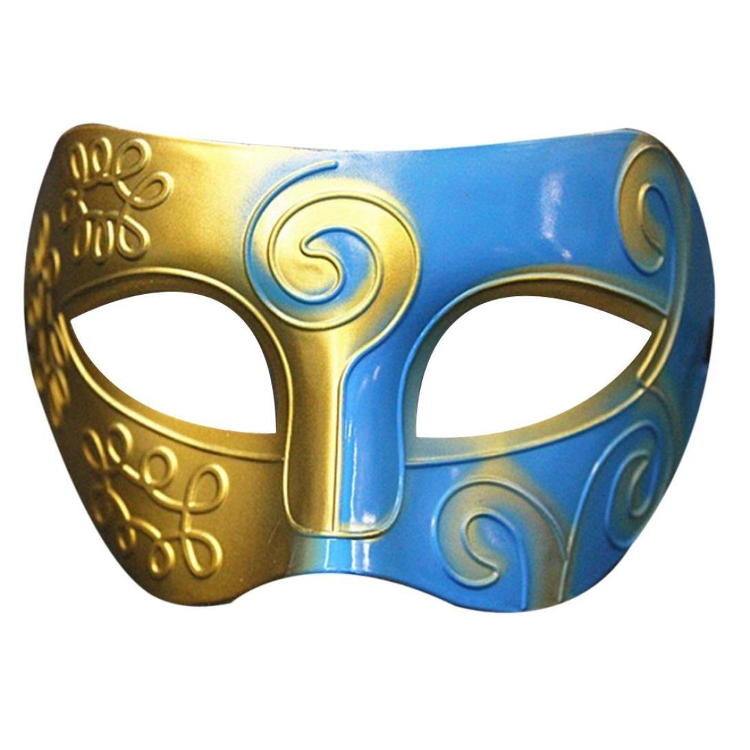 YJYdada Retro Roman Gladiator Swordsman Halloween Party Masks Mardi Gras Masquerade Mask (A) at Amazon Mens Clothing store: