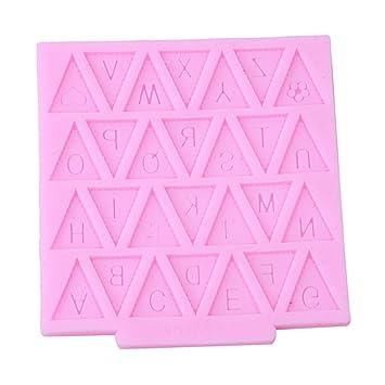 gluckliy banderines bandera de letra del alfabeto de silicona decoración de chocolate molde de pastel fondant