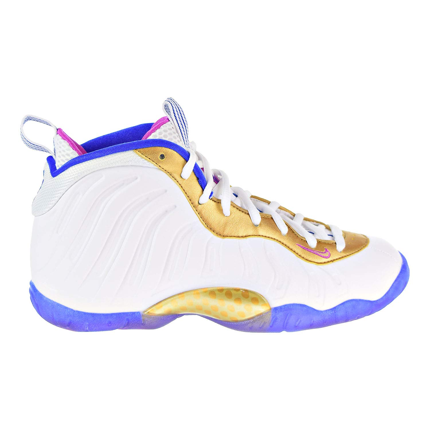 Nike Kid's Little Posite One GS White/Blue 644791-103 (SIZE: 4Y)