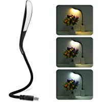 LEDGLE USB LED Luz Lectura Portátil Lámpara 3.4w LED Noche Luz PC Cable de Iluminación Interruptor Sensible al Tacto,3…