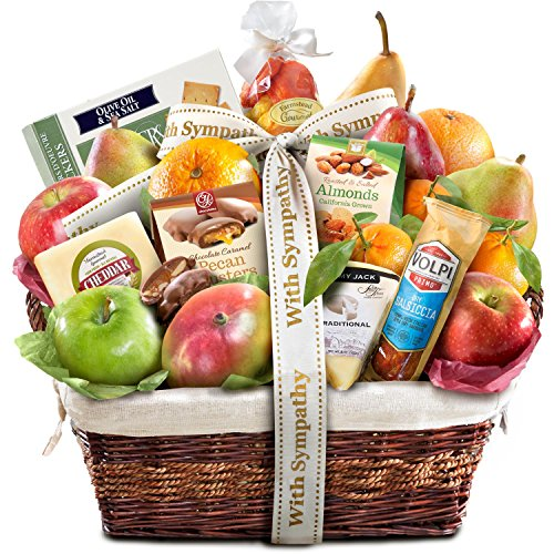 Golden State Fruit Gourmet Abundance Gift Basket, Sympathy (Fruit Gift Baskets Sympathy)