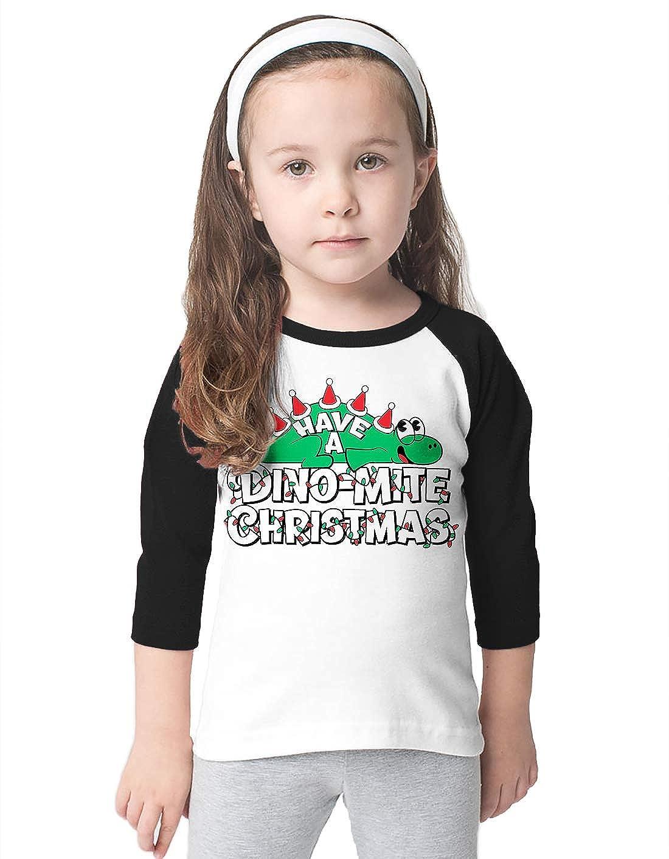 SpiritForged Apparel Have A Dino-Mite Christmas Toddler 3//4 Raglan Shirt