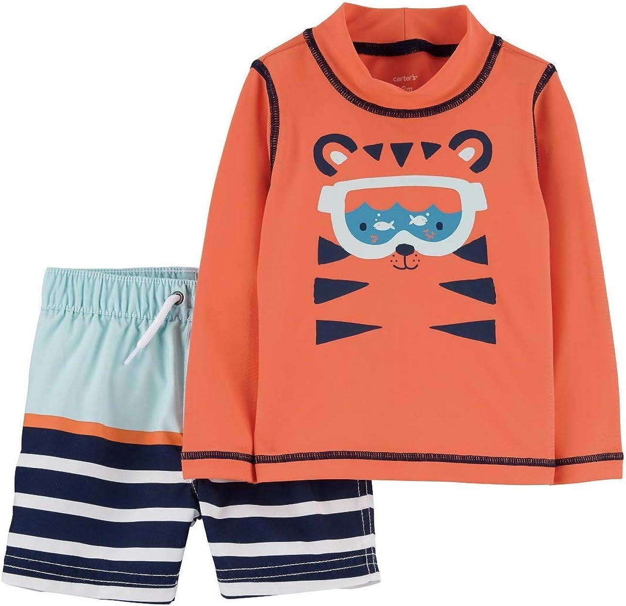 Carter's Tiger Rashguard Swim Set