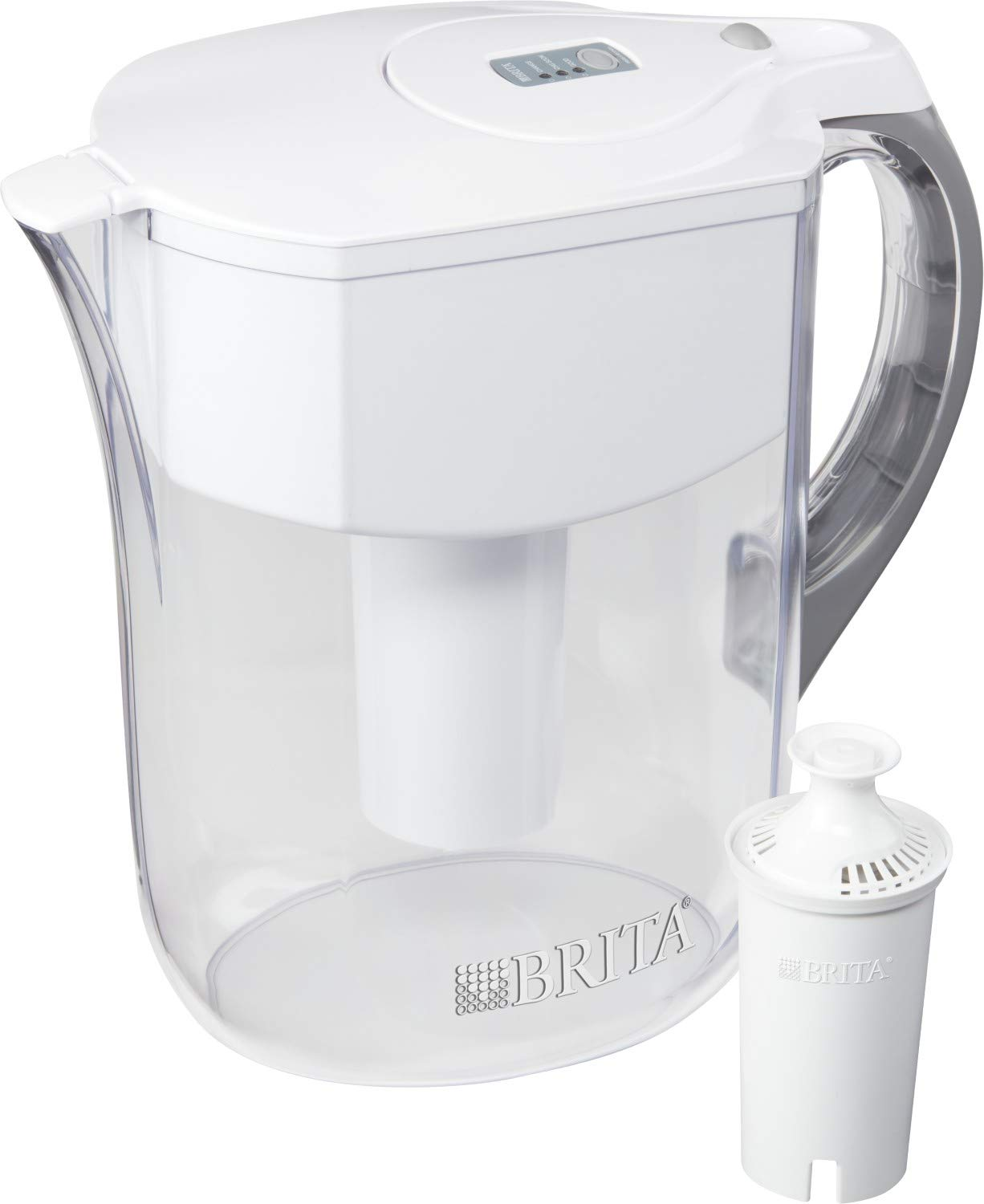 Brita Water Filter Pitchers, Large 10 Cup, White