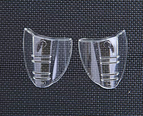 Hub's Gadget 12 Pairs Safety Eye Glasses Side Shields, Slip On Clear Side Shield for Safety Glasses- Fits Small to Medium Eyeglasses by Hub's Gadget (Image #1)