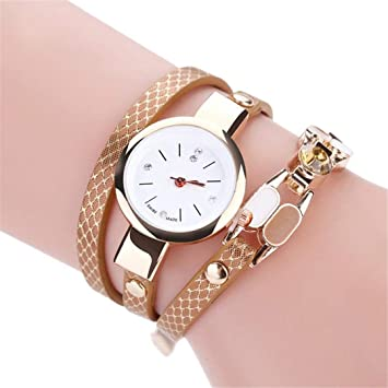 Ladies Bracelet Diamond Circle Watch Student Fashion Table Female Clock Top Chain Quartz Clock Christmas Gift