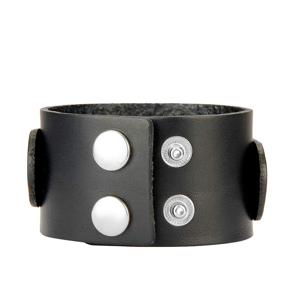 Jenia Leather Bracelet for Men Rope Braided Cuff Bracelet Punk Adjustable Wristband Wrap Bracelet Handmade Jewelry for Boys, Kids, Teens by Jenia (Image #3)