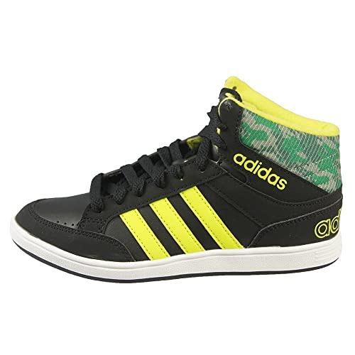 official photos dcd61 f589e Adidas - Hoops Mid K - CG5735 - Color  Negro-Verde-Amarillo - Size  36.0   Amazon.es  Zapatos y complementos