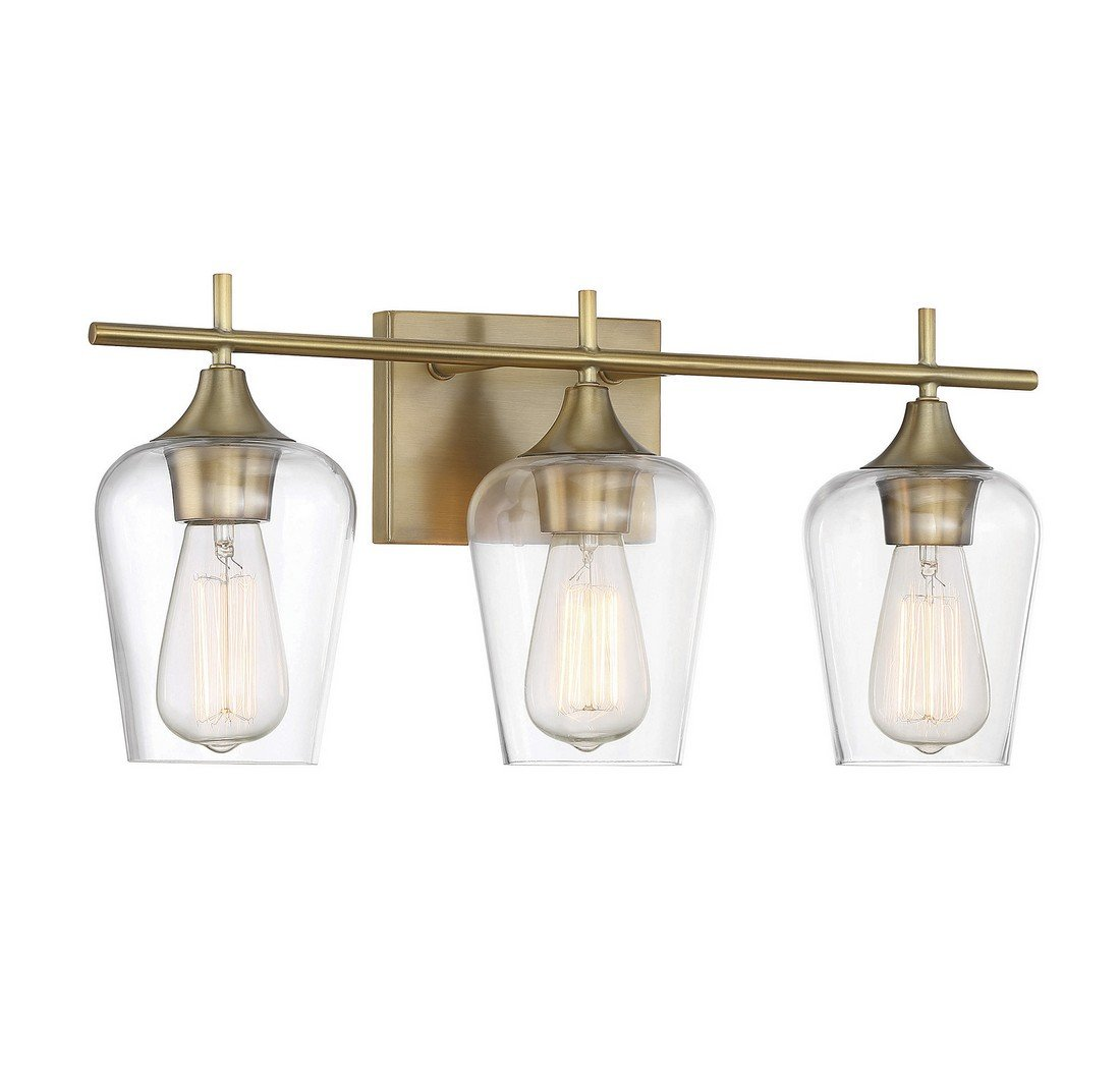 Savoy House Octave 3 Light Bath Bar 8-4030-3-322 in Warm Brass by Savoy House (Image #1)