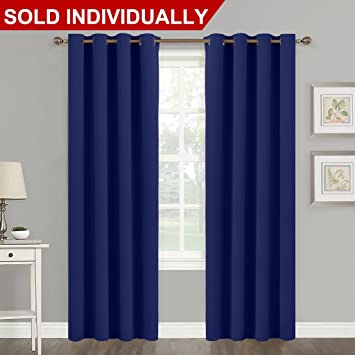 Blackout Navy Blue Curtain Panel