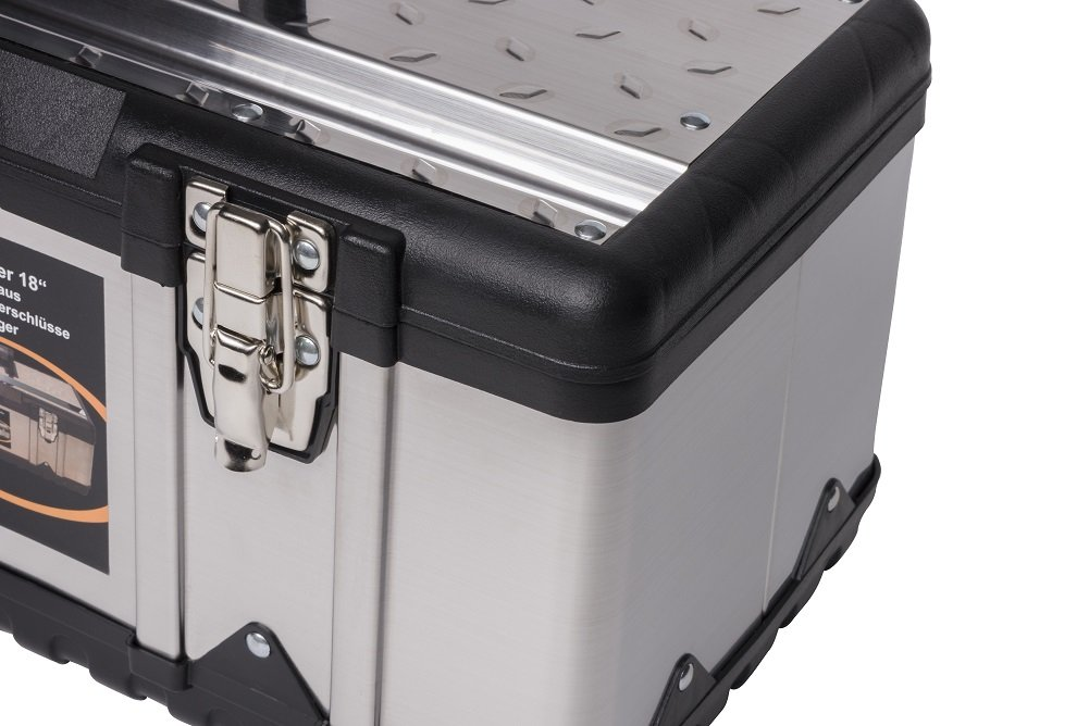 resistente a los impactos Caja de herramientas y bandeja para herramientas metal tama/ño XL acero inoxidable dimensiones de 58,2/x 29,8/x 25,5/cm marco de pl/ástico