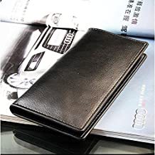 CFHKStore Mens Long Leather Wallet