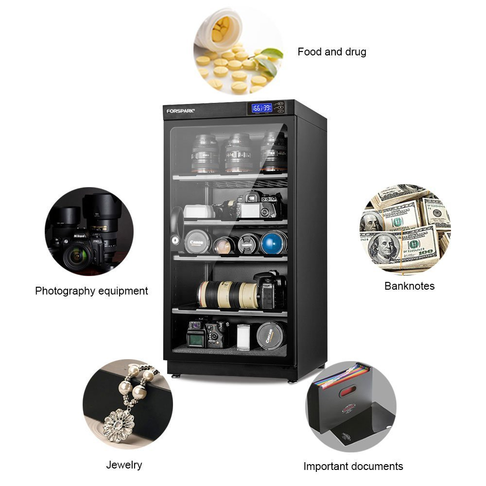FORSPARK Camera Dehumidifying Dry Cabinet 8W 100L - Noiseless and Energy Saving - for Camera Lens and Electronic Equipment Storage by FORSPARK (Image #4)