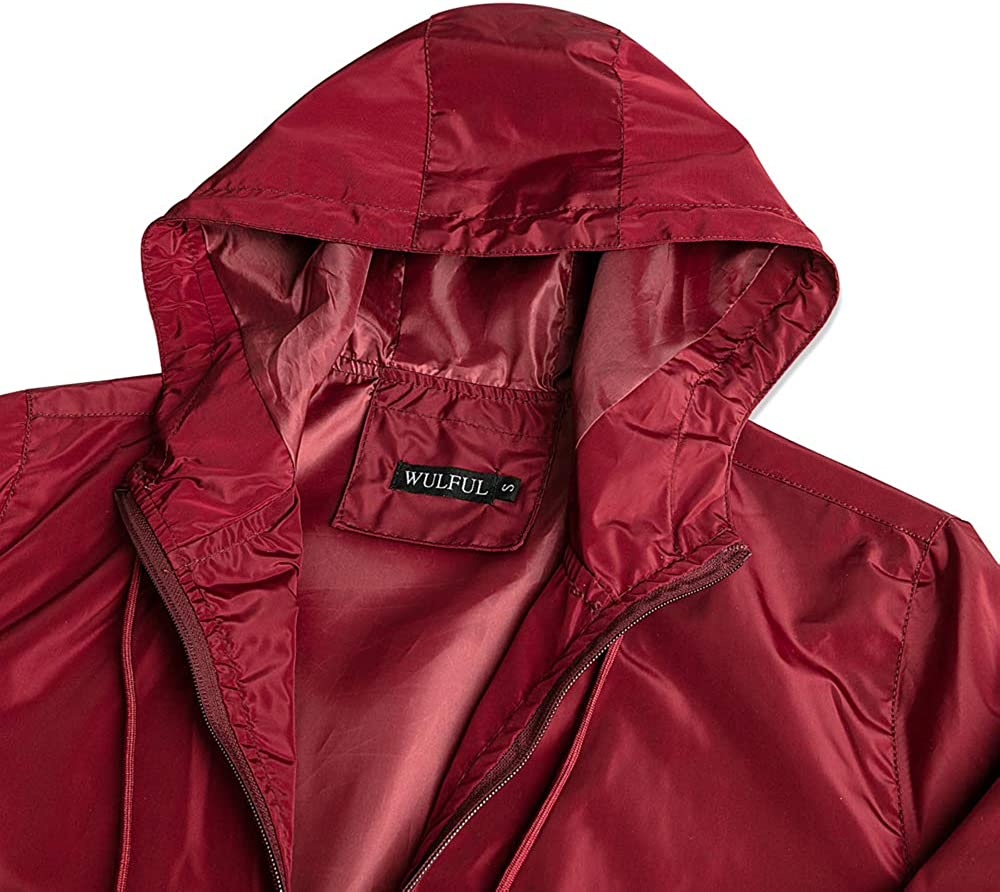 YIMANIE Mens Lightweight Windbreaker Jacket Waterproof Hooded Outdoor Jackets Casual Outwear