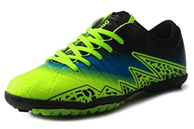 c1f47a5f3e0c T&B Soccer Shoes Cleats Kids Outdoor Sports Football Boots Low-Top  Green/Black No