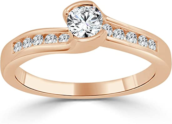 Princess Kylie Classic Tension Set Clear Cubic Zirconia Shaped Ring Rhodium Plated Sterling Silver