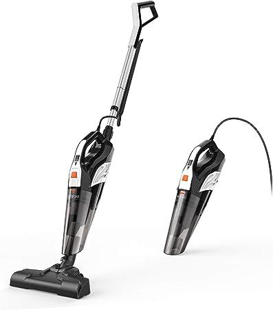 Meiyou - Aspirador de mano sin bolsa 2 en 1, potente aspirador de mano, 600 W/18000Pa, ligero y portátil para casa, cocina, alfombra: Amazon.es: Hogar