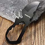 BephaMart Multi-Functional Stainless Steel Pocket Tool Bottle Opener Crowbar Wrench Screwdriver Keychain