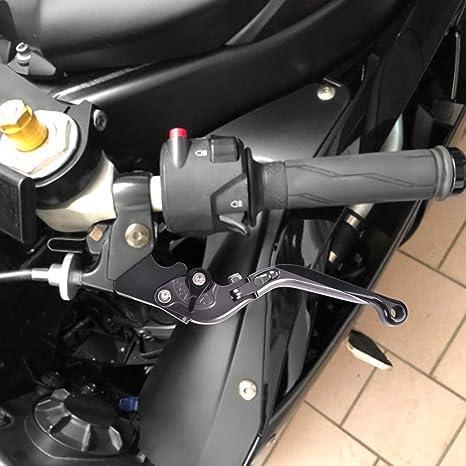 CBR500R CB500F//X 2013-2019 Auzkong Leviers Dembrayage de Frein CNC Pliable et R/églables et Extensibles pour HONDA MSX 125 Grom 2014-2019 CBR400R all years Argent-Noir-Argent