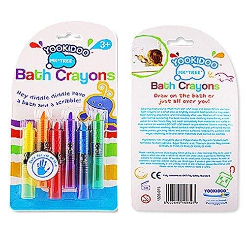 6個/ロット新しい赤ちゃん幼児用洗濯可能BathクレヨンBathtime Fun Play教育子供おもちゃ