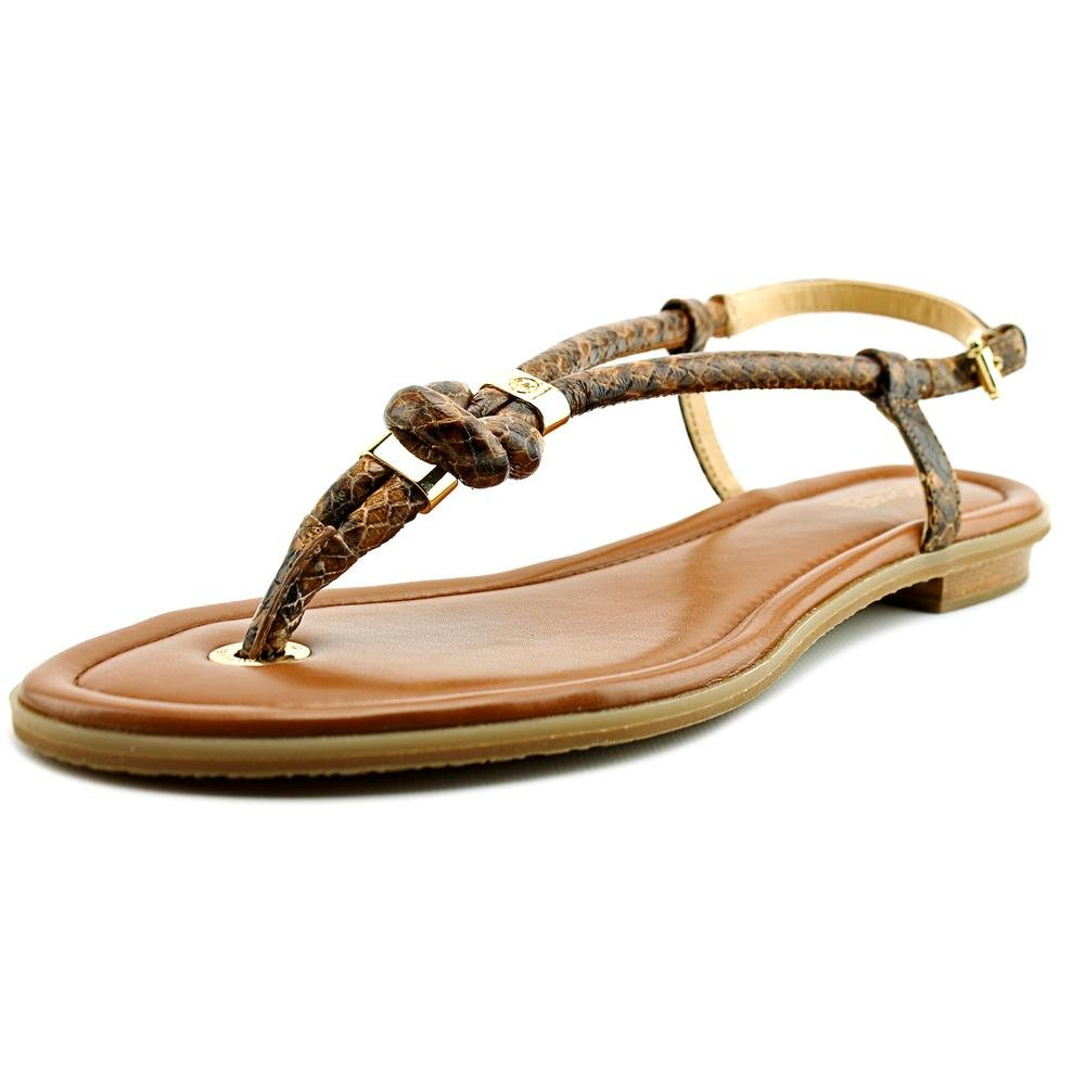 Michael Kors 'Holly' Leather Thong Sandal (6.5, Luggage) by Michael Kors