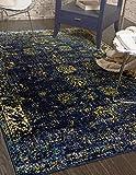 Unique Loom Sofia Collection Navy Blue 4 x 6 Area
