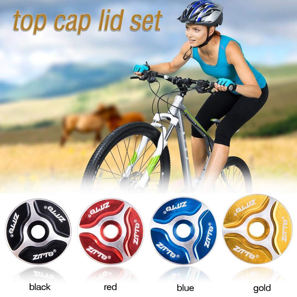 Lucky Family Tornillo de expansi/ón de Bicicleta Accesorio de Conjunto de Tapa de Aluminio de Horquilla Delantera y Tapa de Cabeza de v/ástago