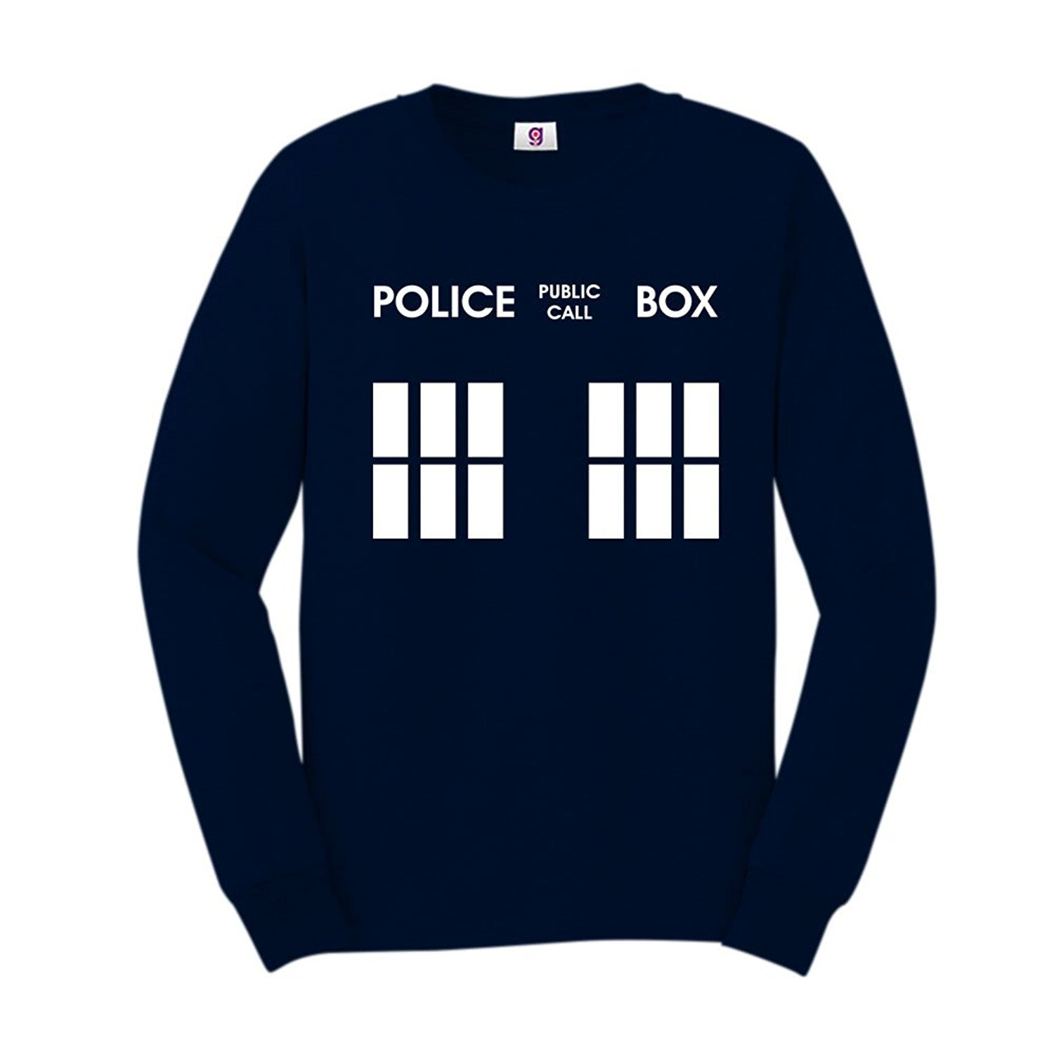 Inspired Dr and The Who Public Police Call Box Tardis Sweatshirt