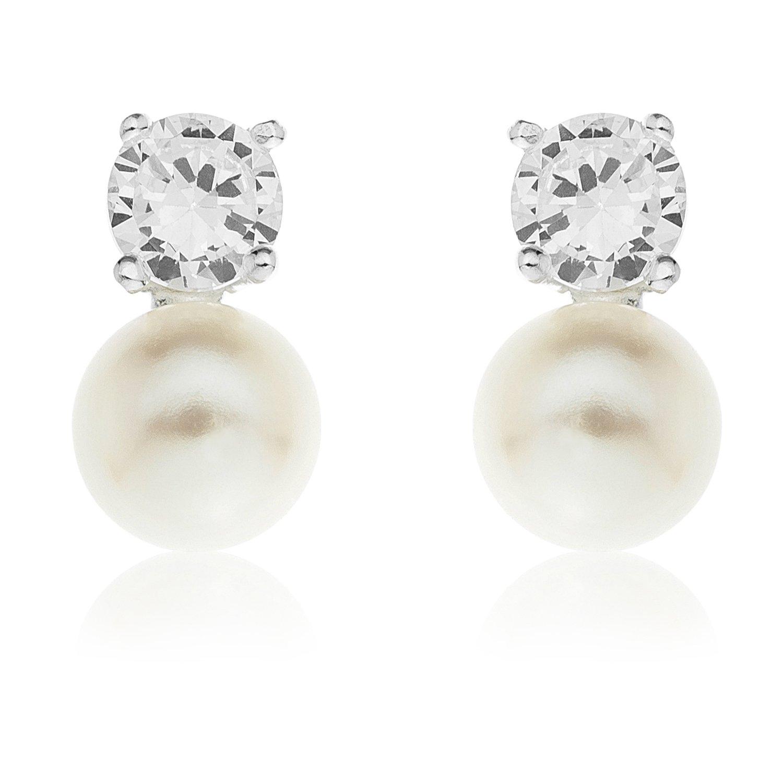 0dfa63bdead0 Bijoux pour tous SPE17PZ - Juego de joyas de plata de ley con perla   Amazon.es  Joyería