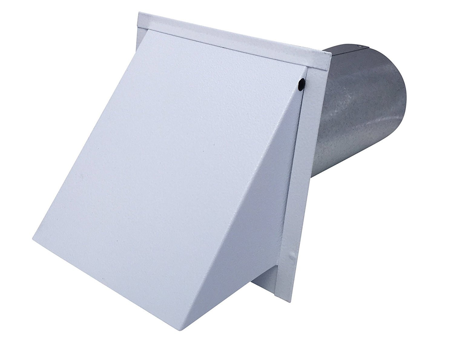 5 Inch Wall Vent Painted White Damper Only (5 Inch diameter) - Vent Works