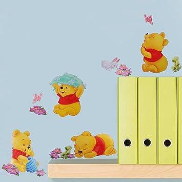 Smart Art Disney Winnie the Pooh Tapete DIY PVC Karikatur Wandaufkleber  Schön Zuhause Wandtattoos zum Weihnachten